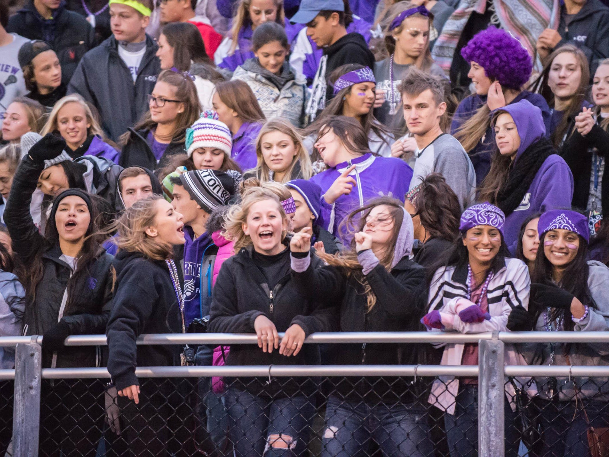 Student section at Lakeview's home comming game Friday evening.