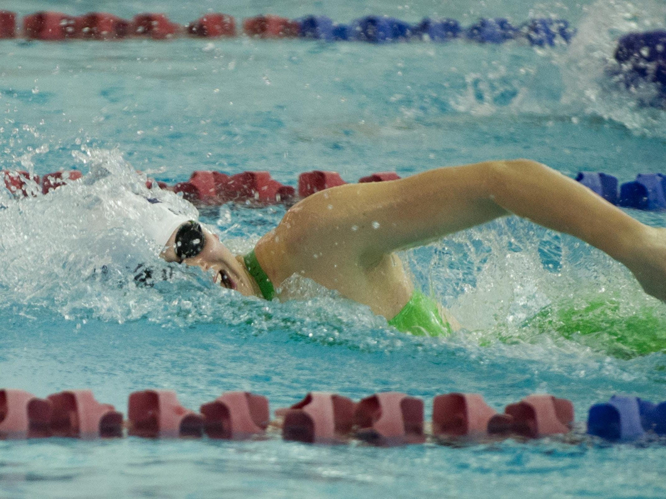 Pittsford swimmer Lindsay Stone in the 200 yard freestyle event
