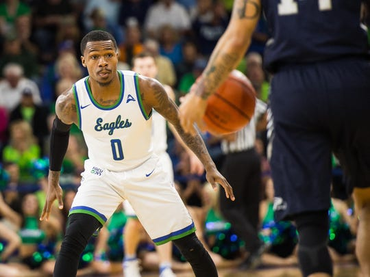 FGCU's Brandon Goodwin finished with a game-high 29 points as the Eagles prevailed over the University of North Florida 74-59 on Monday night at Alico Arena.