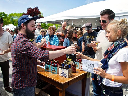 More than 60 craft beers are on tap at the Buckeye Craft Beer and BBQ Festivalin Harveysburg.