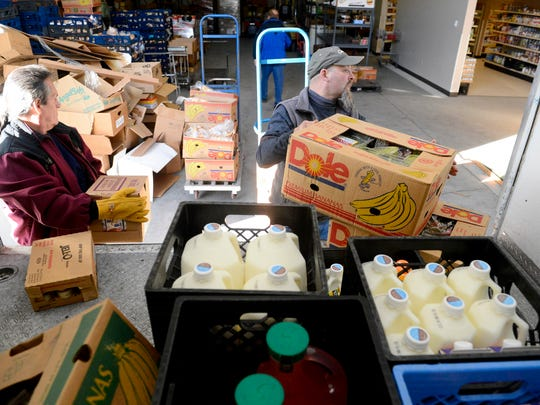 """Great Falls Food Bank receives a shipment of food from Albertsons. According to the fundraising support group """"Engage For Good"""" Albertson's companies nationwide raised more than $5.5 million for food banks and hunger organizations in 2016 through their checkout counter fundraising efforts"""