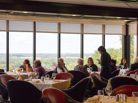 Horizons Restaurant at the Lodge at Woodcliff Hotel offers a nice vista of Perinton.