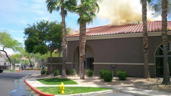 More than two dozen units responded to a fire at this Scottsdale apartment complex near Scottsdale Road and Frank Lloyd Wright Boulevard.