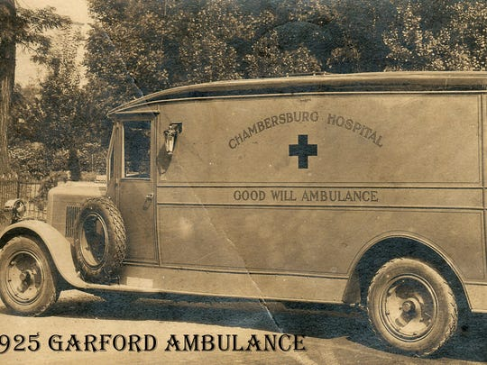 This was the first ambulance in the Chambersburg Fire Department, made by the craftsmen at H.B. McFerren in 1925.