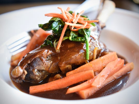 Hearty Lamb Shank is prepared Friday, Feb. 17, at the