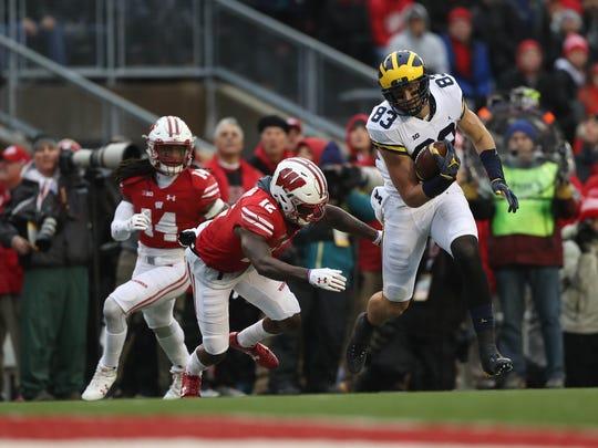 Nov. 18: Michigan's Zach Gentry makes a catch against