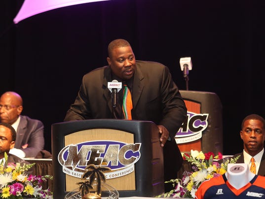 Earl Holmes at MEAC media day