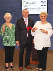 Westland Mayor William Wild with Sharon Scott (left) and Barb Marcum, director of senior resources in Westland.