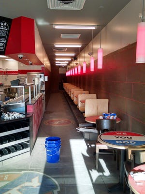 A look inside the yet-to-open Jimmy John's sandwich shop at 2020 Eighth St. S. in Wisconsin Rapids.