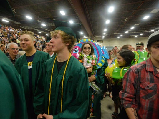 The C.M. Russell High School Class of 2018 commencement ceremony on Sunday, May 27, 2018, in the Four Seasons Arena.  CMR graduated 287 seniors on Sunday.