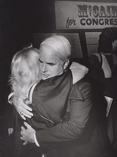 John McCain during his bid for Congress in 1984.