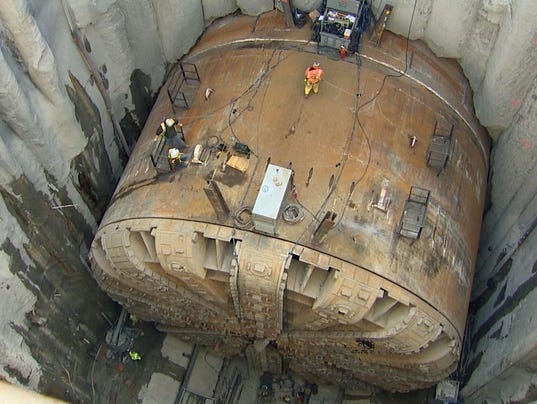 Bertha TBM tunnel boring