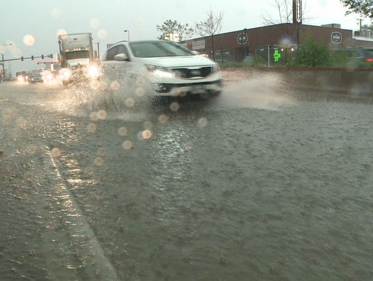 Denver flooding, June 2015. Photo: KUSA