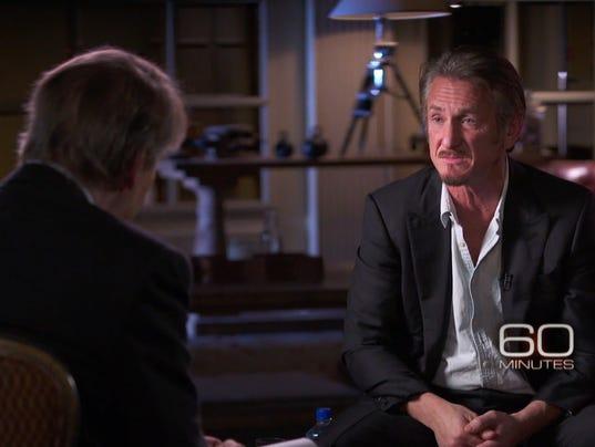 Sean Penn with Charlie Rose