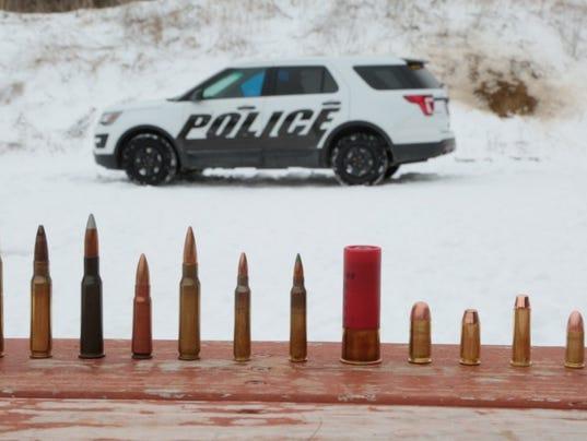 AP BULLETPROOF POLICE CARS F A USA MI