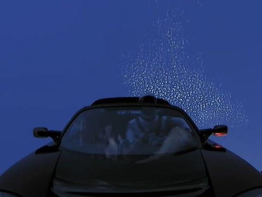 Tesla Orbiting the Earth