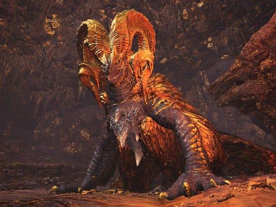 The elder dragon Kulve Taroth in Monster Hunter World.