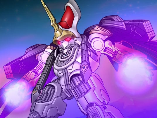 The Xelgard mech from Super Robot wars X for PS4 and Vita.