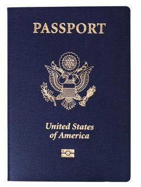 A sample U.S. passport cover.