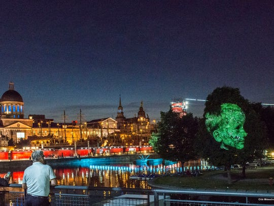 At the Old Port of Montréal, Cité Mémoire projections give guests a dynamic window into the city's history.