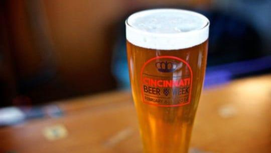A glass of beer at Cincinnati Beer Week 2014.