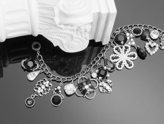 Bricolage charm bracelet is by Anne Koplik