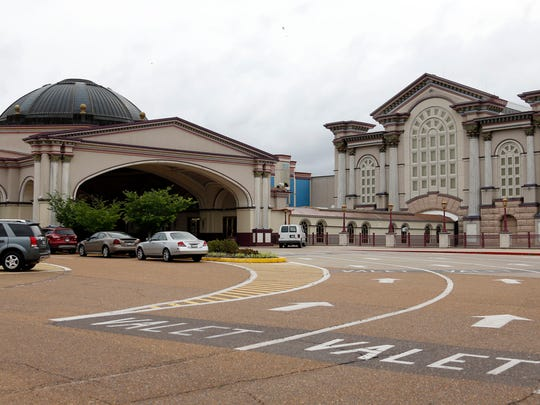 The former Harrah's Tunica casino is shown in this May 13, 2014, photograph. The casino closed June 2, 2014, and was demolished in Aug. 2015. The hotel buildings, convention center and golf course remain but are vacant.