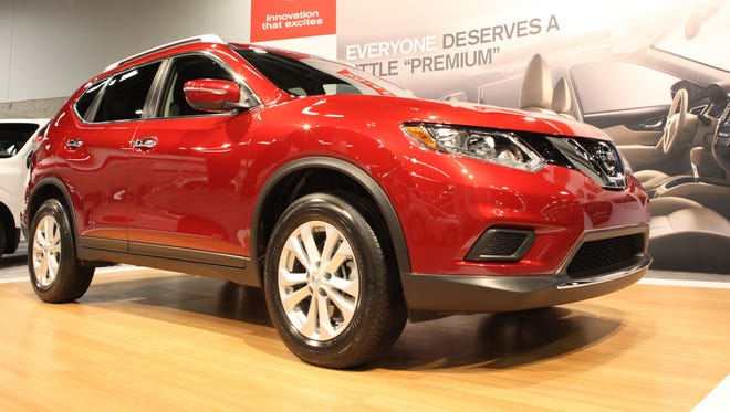 The 2014 Nissan Rogue is on display at the Orange County Auto Show
