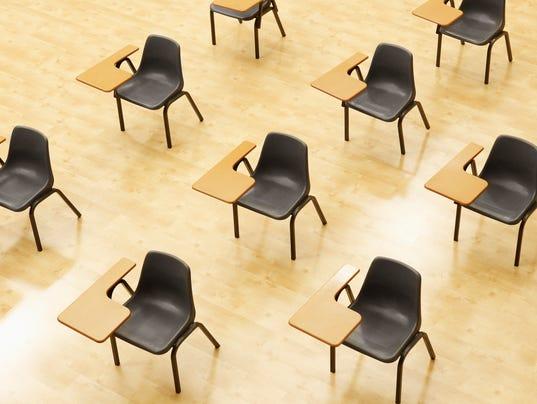 Education desks stock presto