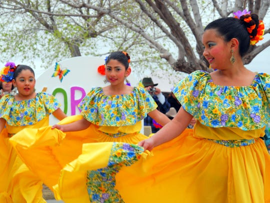 Ballet folklorico dancers entertain during the Columbus event recognizing the Cabalgata Binacional. The village is preparing for the 102nd anniversary of Pancho Villa's raid on the village that dates back to March 9, 1916.