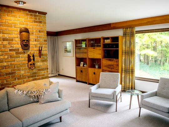 A view of the main living room in Will and Angela Bailey's