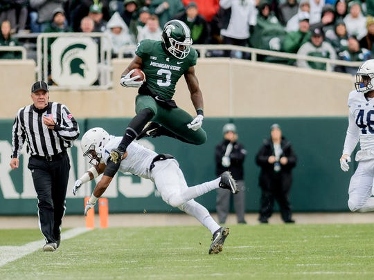 LJ Scott rushed for 898 yards last season, eclipsing 100 yards three times. It wasn't the season he wanted to have. By midseason, he said he knew he was likely coming back for his senior year.