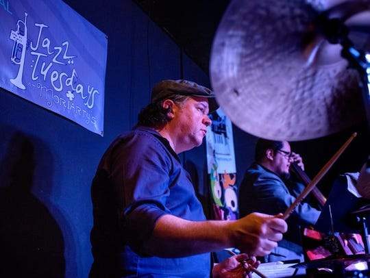 Jeff Shoup performs during Jazz Tuesdays at Moriarty's
