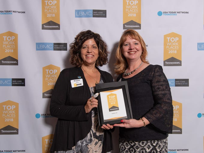 Acopia's Deanna Nelson and Susanne Jackson were honored