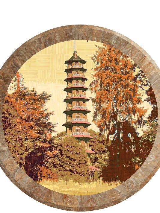ArtCenterNJ=D.108 Kew Gardens London with Moongate New York Chinese Garden .jpg