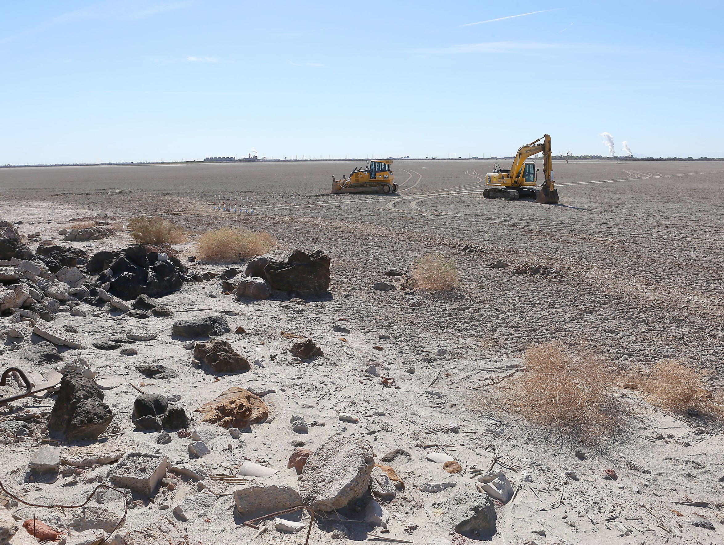 The Red Hill Bay restoration project — seen as work