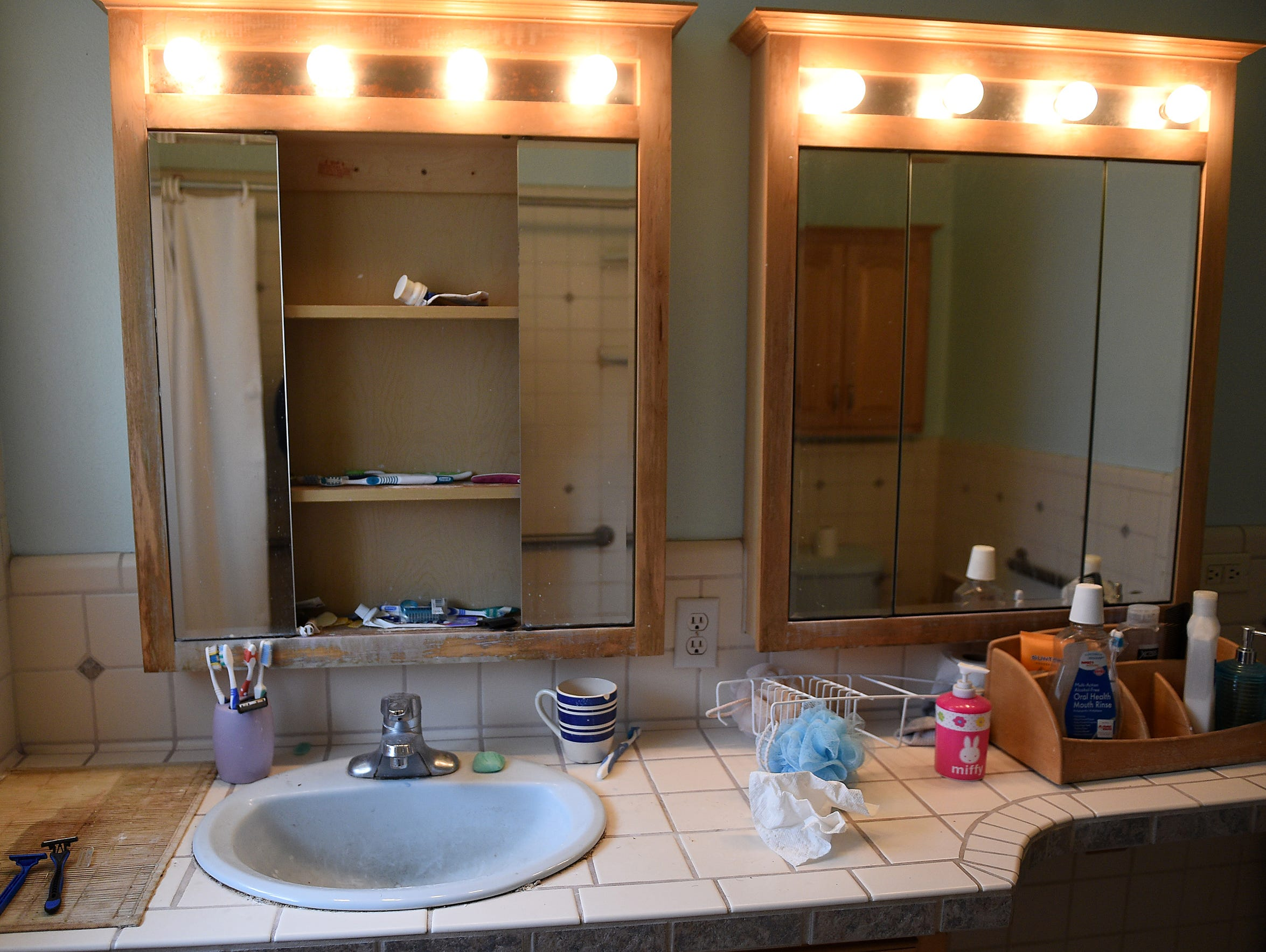 A bathroom in a group home for mentally ill state clients,
