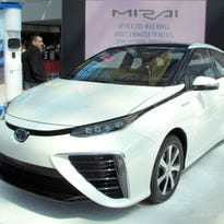 A Toyota Mirai, like this one at the New York International Auto Show on Saturday, will be on display at the Green Grand Prix. It's part of the Opening Weekend at Watkins Glen International.