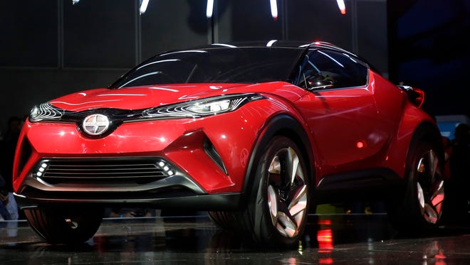The Scion C-HR concept car is shown at the Los Angeles Auto Show