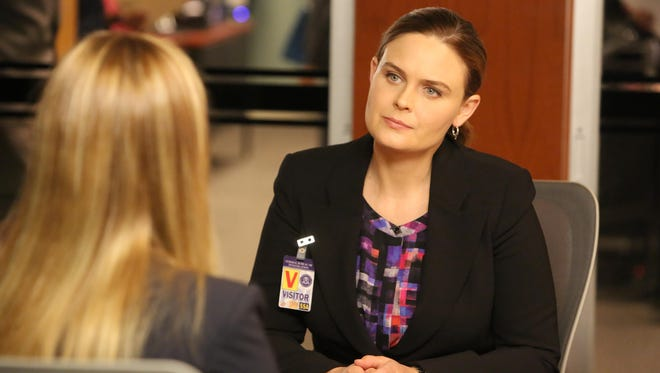Emily Deschanel in the 'The Loyalty in the Lie' season premiere of 'Bones' on Fox.