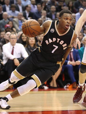 Kyle Lowry scored a game-high 27 points for the Raptors.