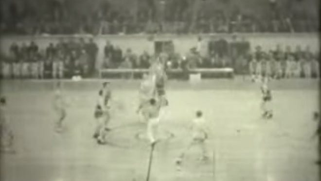 Tip off of the first NCAA men's basketball championship between Oregon and Ohio State in 1939