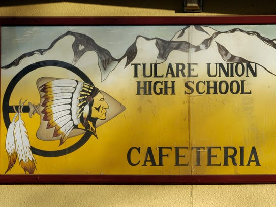 On the walls at Tulare Union High School.
