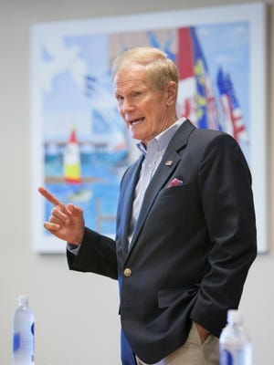 Senator Bill Nelson answers questions from the Pensacola City Council and media during a visit in Pensacola, FL on Monday, August 29, 2016.