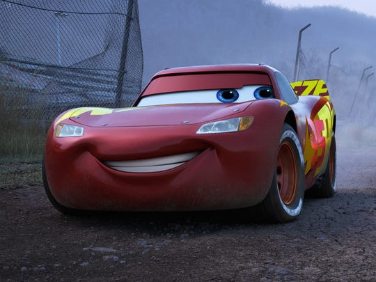 Lightning McQueen (voiced by Owen Wilson) has worn