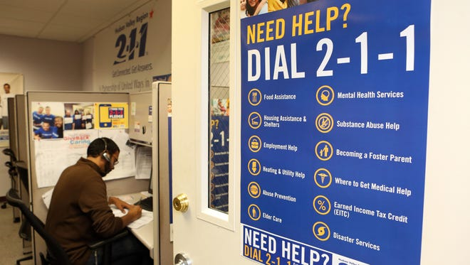 United Way's 211 call center in White Plains which helps people in need of food, shelter and services.