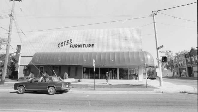 The exterior of Estes Furniture in an undated photo.