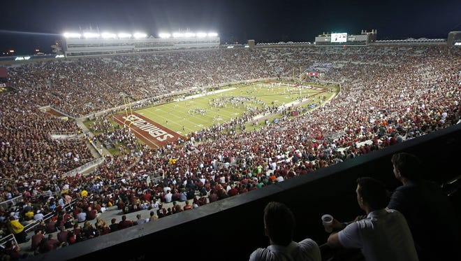 Doak Campbell Stadium is packed with fans for a matchup between Miami and Florida State University in October.