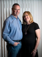 Steve Horaney and his wife, Kari Horaney, at their home in South Lyon, Mich., on March 12, 2018.