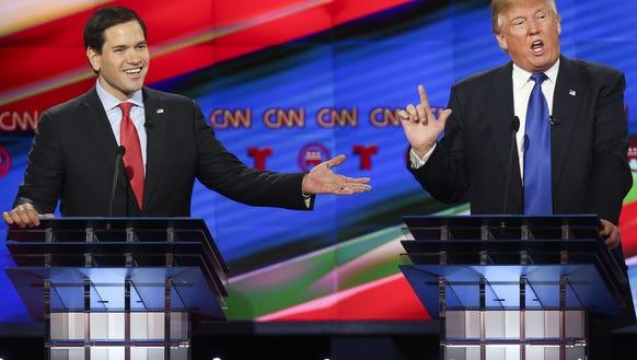 Marco Rubio and Donald Trump.